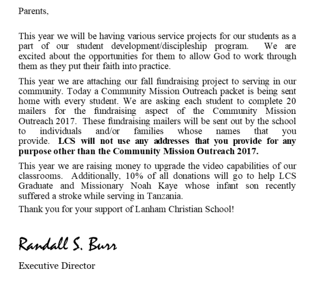 CMO R.Burr Letter